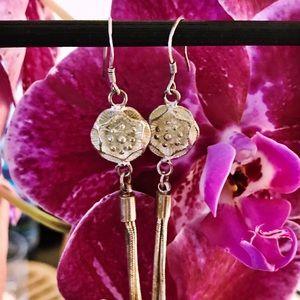 Jewelry - Boutique Silver Tassel Earrings